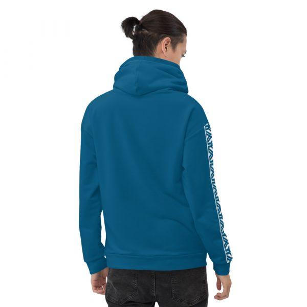 Herren Hoodie Mykonos blau mit Galonstreifen in weiß 2 all over print unisex hoodie white back 6112a0462fadb