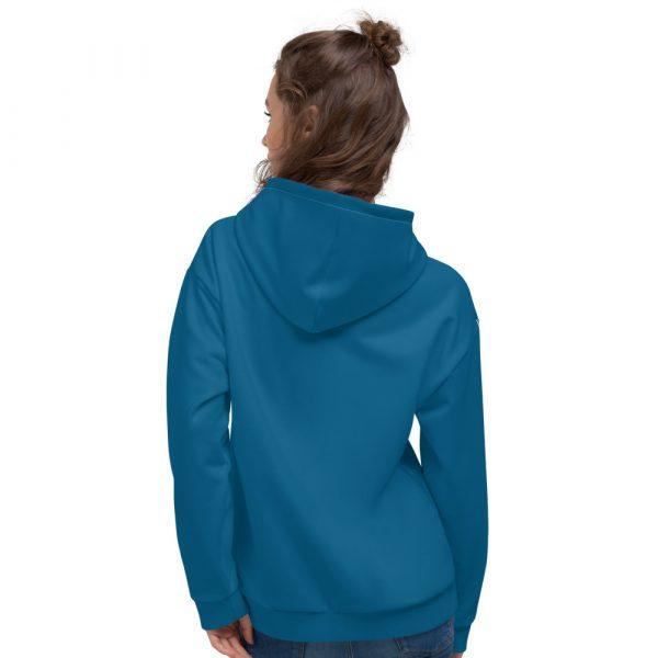 Damen Hoodie Mykonos blau mit Galonstreifen in weiß 2 all over print unisex hoodie white back 6112a0f876931