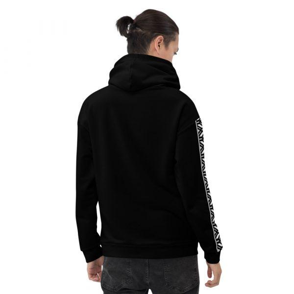 Herren Hoodie schwarz mit Galonstreifen in weiß 3 all over print unisex hoodie white back 6112a19caf841