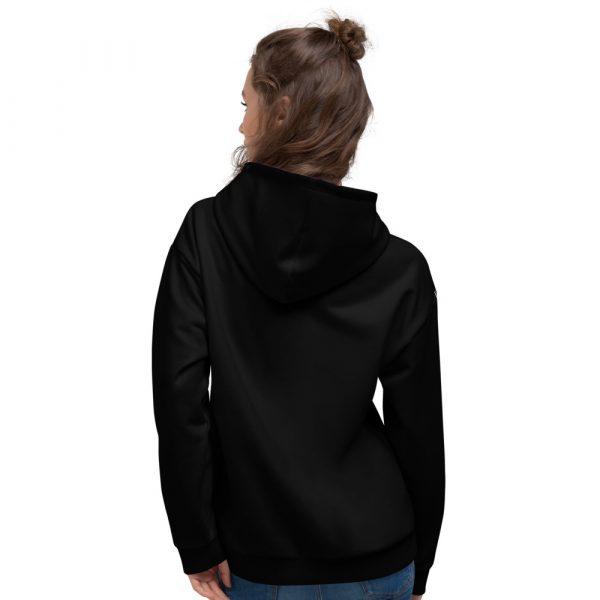 Damen Hoodie schwarz mit Galonstreifen in weiß 3 all over print unisex hoodie white back 6112a2947645b