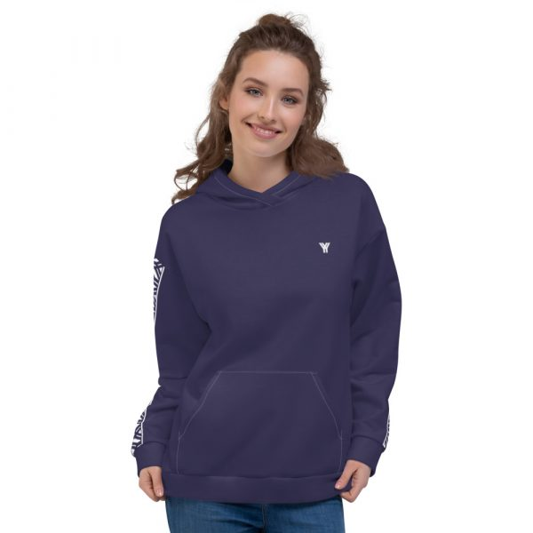 Damen Hoodie rhodonit mit Galonstreifen in weiß 1 all over print unisex hoodie white front 611295a82f691