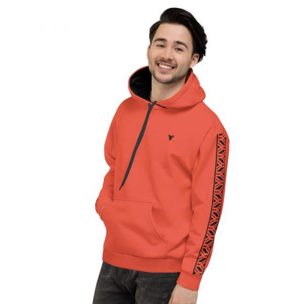 Herren Hoodie mandarin mit Galonstreifen in schwarz 4 all over print unisex hoodie white left 611297a77b28e