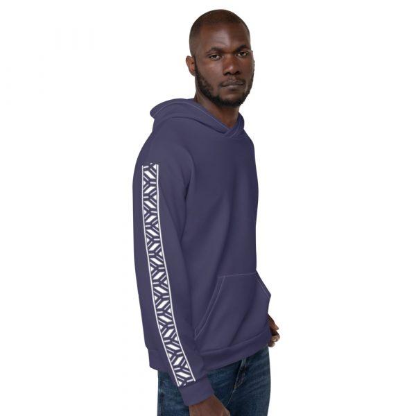 Herren Hoodie rhodonit mit Galonstreifen in weiß 3 all over print unisex hoodie white right 611295308e284