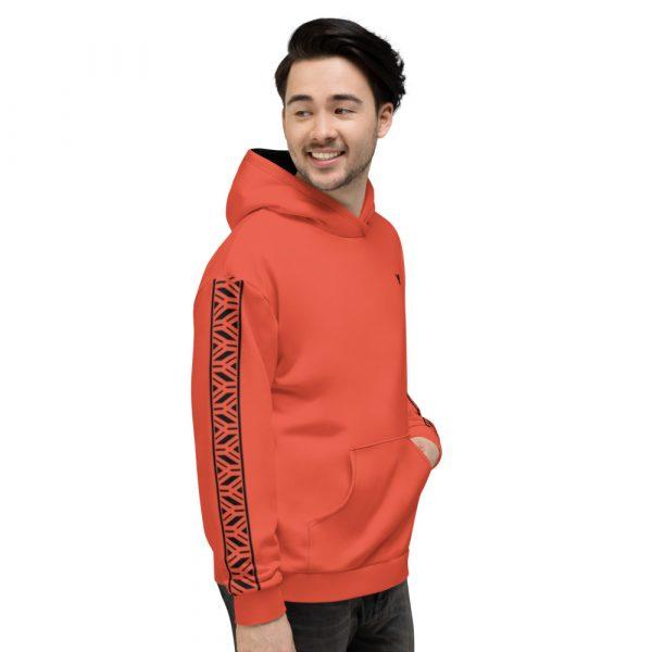 Herren Hoodie mandarin mit Galonstreifen in schwarz 3 all over print unisex hoodie white right 611297a77b190