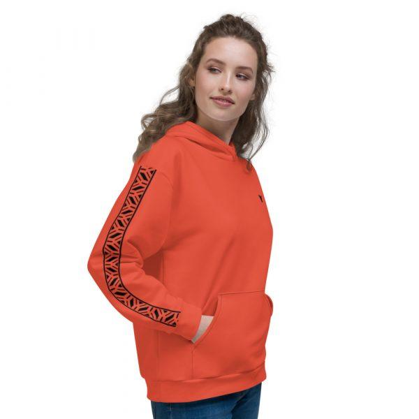 Damen Hoodie mandarin mit Galonstreifen in schwarz 1 all over print unisex hoodie white right 6112980e2cc3f