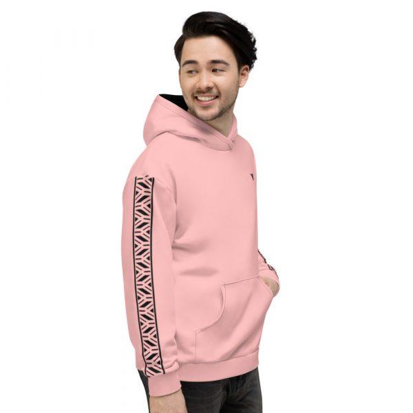 Herren Hoodie rosa mit Galonstreifen in schwarz 1 all over print unisex hoodie white right 61129f0eb8e71