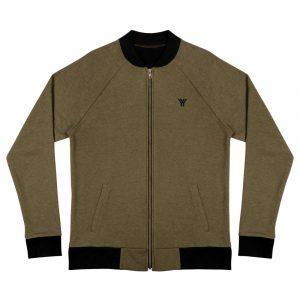 sweatjacke-unisex-bomber-jacket-heather-military-green-front-614d73b28b57e.jpg