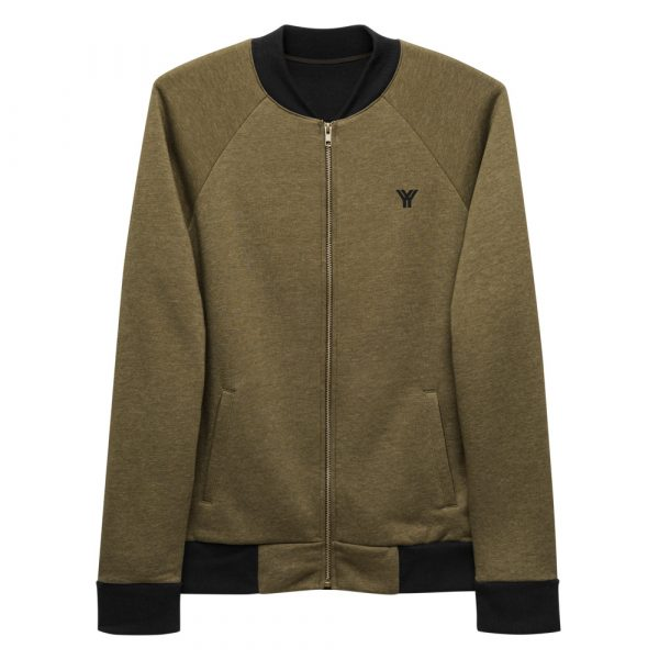 sweatjacke-unisex-bomber-jacket-heather-military-green-front-614d73b28b917.jpg