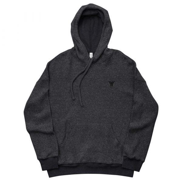 loungewear-unisex-sueded-fleece-hoodie-black-heather-front-614d963bd2bc3.jpg